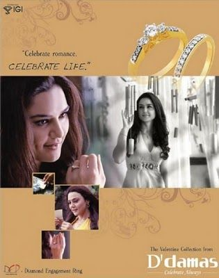 Preity Zinta Photoshoots for D' damas Advert