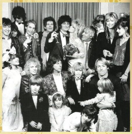 Rod Stewart and Kelly Emberg Ron Wood's wedding to Jo with guest