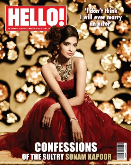 Sonam Kapoor - Hello! Magazine Cover [India] (February 2012)