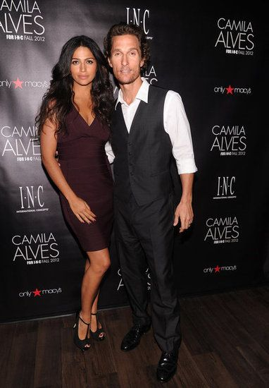 Matthew McConaughey Celebrates His Model Wife Camila