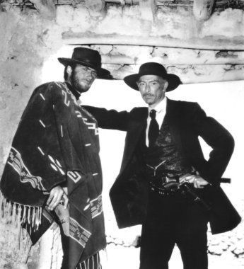 Lee Van Cleef With Clint Eastwood