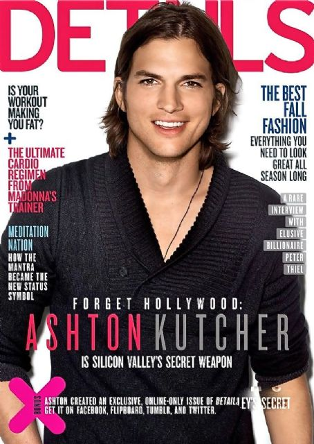 Ashton Kutcher - Details Magazine Cover [United States] (September 2011)