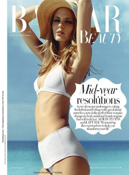 Julia Stegner - Harper's Bazaar Beauty Magazine Cover [United Kingdom] (August 2011)