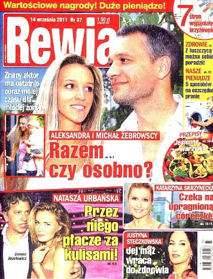 Michal Zebrowski - Rewia Magazine Cover [Poland] (14 September 2011)