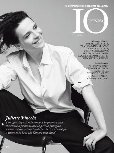 Juliette Binoche - Io Donna Magazine Cover [Italy] (15 May 2010)