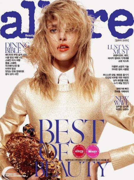 Anja Rubik - Allure Magazine Cover [Korea, South] (October 2011)
