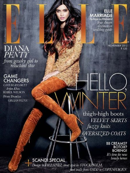 Diana Penty - Elle Magazine Cover [India] (November 2013)