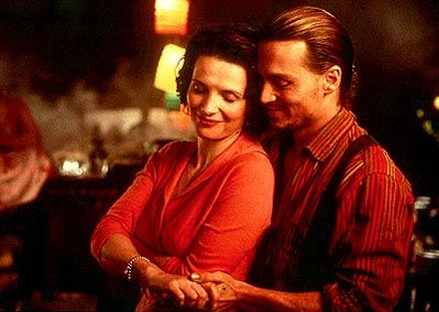 Chocolat Juliette Binoche with Johnny Depp from