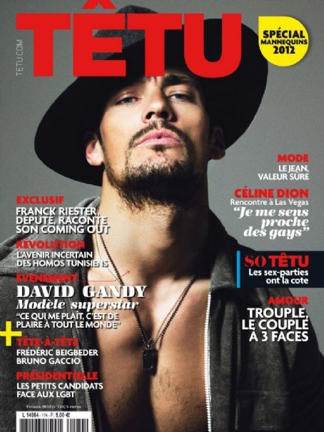 David Gandy - Têtu Magazine Cover [France] (February 2012)