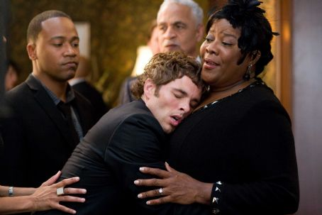 (l to r) Columbus Short, James Marsden, Ron Glass and Loretta Devine star in Screen Gems' comedy DEATH AT A FUNERAL. Photo By: Phil Bray. © 2010 Screen Gems, Inc. All rights reserved.