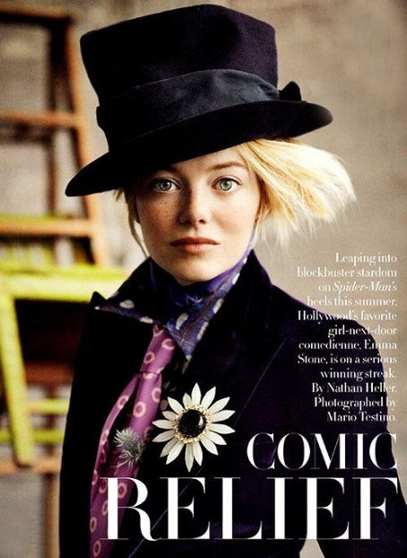 Emma Stone: July 2012 issue of Vogue magazine