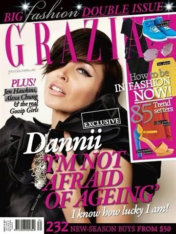 Dannii Minogue - Grazia Magazine Cover [Australia] (15 August 2011)