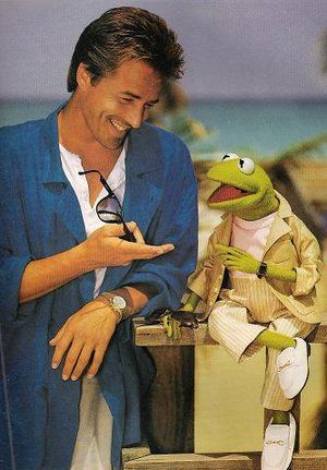 Kermit the Frog Don Johnson and  1986 -