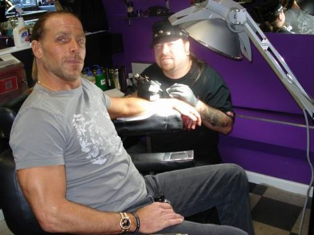 Shawn Michaels - Shawn getting tattooed at Shannon Moore's tattoo shop Gas Chamber Ink.