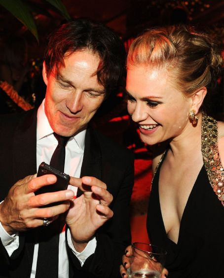 Anna Paquin and Stephen Moyer at The Emmy Awards - HBO Party - Inside