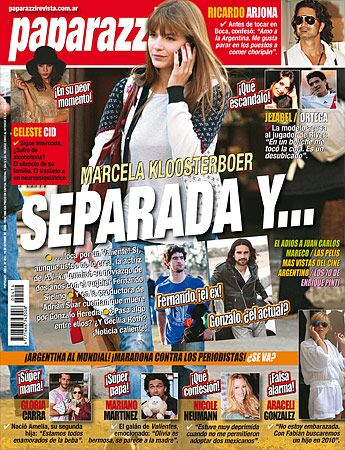 Marcela Kloosterboer - Paparazzi Magazine Cover [Argentina] (1 October 2009)