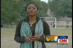 Isha Sesay  In The Field For CNN