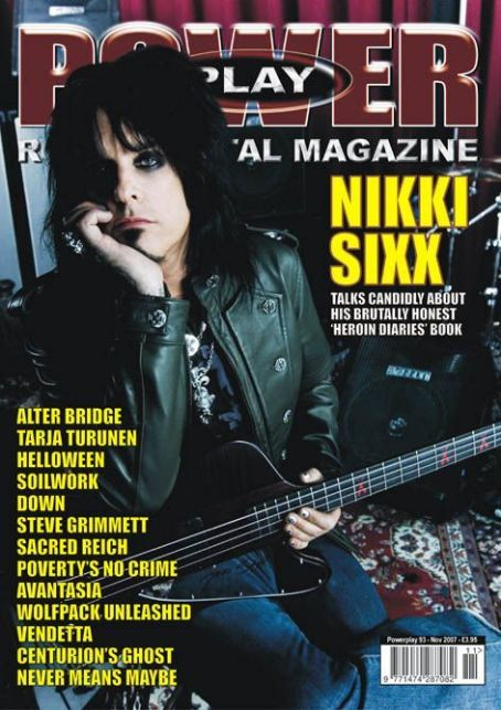 Nikki Sixx - Power Player Magazine Cover [United Kingdom] (November 2007)