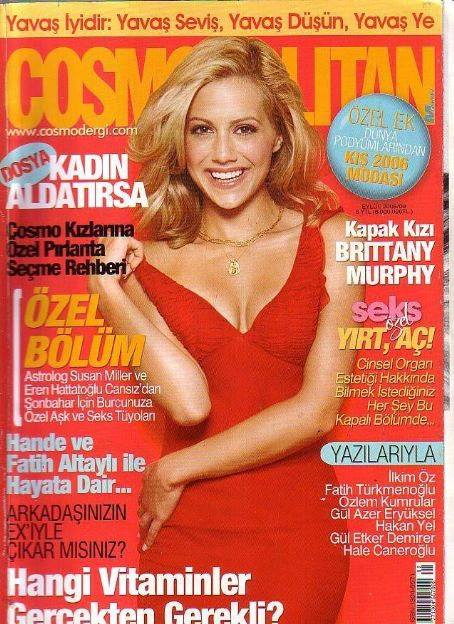 Brittany Murphy - Cosmopolitan Magazine Cover [Turkey] (September 2005)