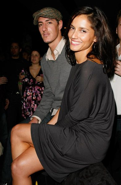 with boyfriend Eric Balfour