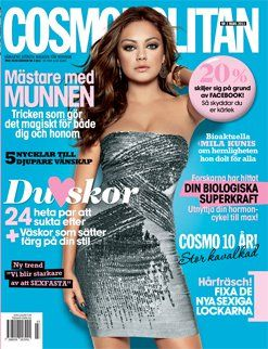Mila Kunis - Cosmopolitan Magazine Cover [Sweden] (March 2011)