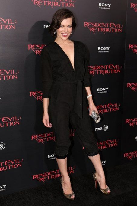 "Milla Jovovich at the ""Resident Evil: Retribution"" premiere in LA - September 12, 2012"