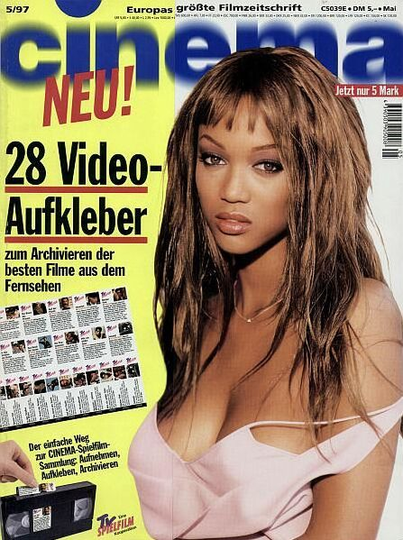 Tyra Banks - Cinema Magazine [Germany] (May 1997)