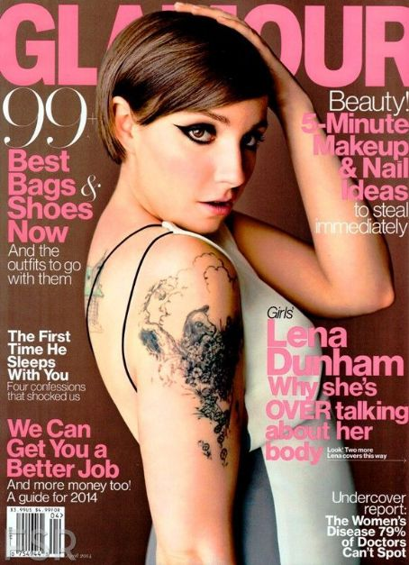 Lena Dunham - Glamour Magazine Cover [United States] (April 2014)