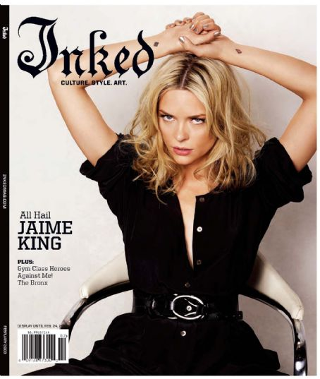 Jaime King - Inked Magazine Cover [United States] (February 2009)