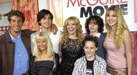 Yani Gellman (L to R) Clayton Snyder, , Carly Schroeder, Hilary Duff, Jake Thomas, Adam Lamberg, Ashlie Brillaut