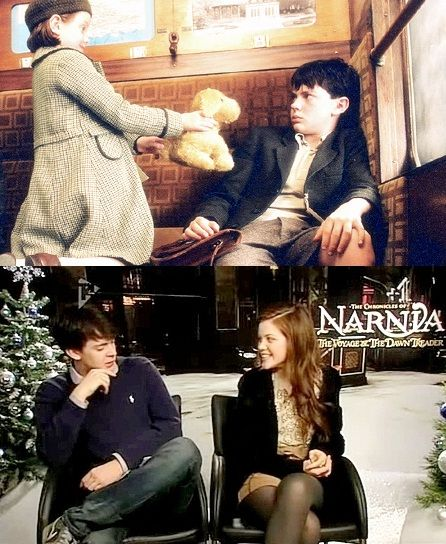 Skandar Keynes and Georgie Henley - Skandar and Georgie