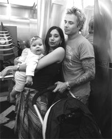 Ayu Azhari Mike Tramp and family