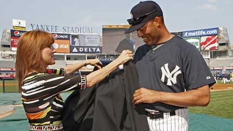 Marilyn Milian  With Mariano Rivera Of The N.Y. Yankees
