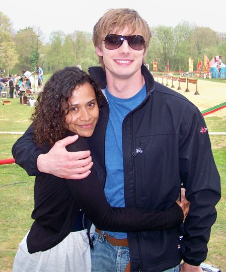 Angel Coulby and Bradley James Angel Coulby & Bradley James