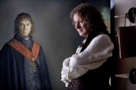Stellan Skarsgård - Stellan Skarsgard as Goya with portrait of Brother Lorenzo in GOYA'S GHOSTS, directed by Milos Forman, a Samuel Goldwyn Films release.