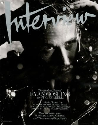 Ryan Gosling - Interview Magazine [United States] (November 2010)