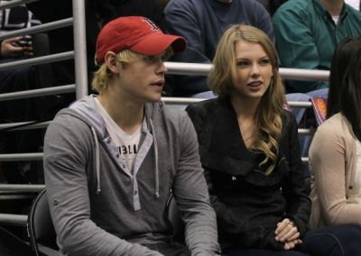 Chord Overstreet Taylor Swift and  were spotted at the Minnesota Wild vs. the Los Angeles Kings hockey game in Los Angeles (February 24)