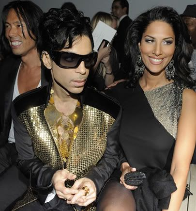 Prince and Bria YSL fashion week