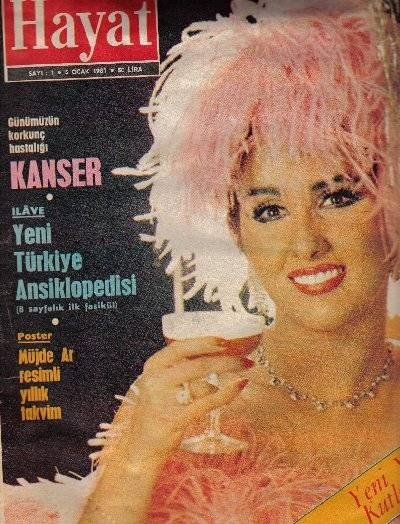 Nükhet Duru - Hayat Magazine Cover [Turkey] (5 January 1981)