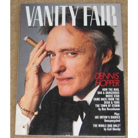 Dennis Hopper - Vanity Fair Magazine [United States] (April 1987)