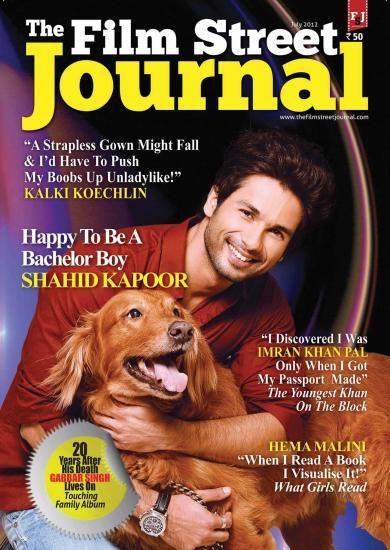 Shahid Kapoor - The Film Street Journal Magazine Cover [India] (July 2012)