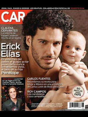 Erick Elias & Daughter Penelope on Caras Cover