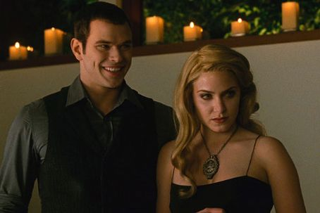 Rosalie Hale Nikki Reed As  And Kellan Lutz As Emmett Cullen In The Twiligh Saga